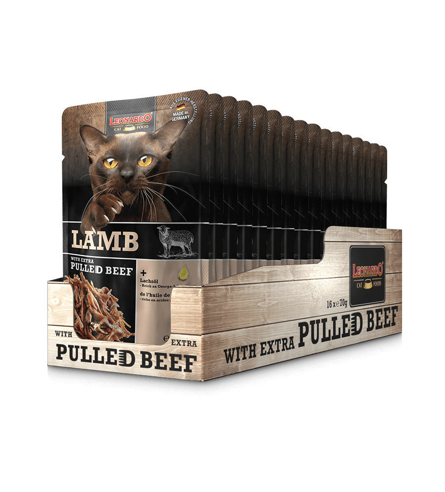 LEONARDO® Lamb - Miel + carne de vită fâșii