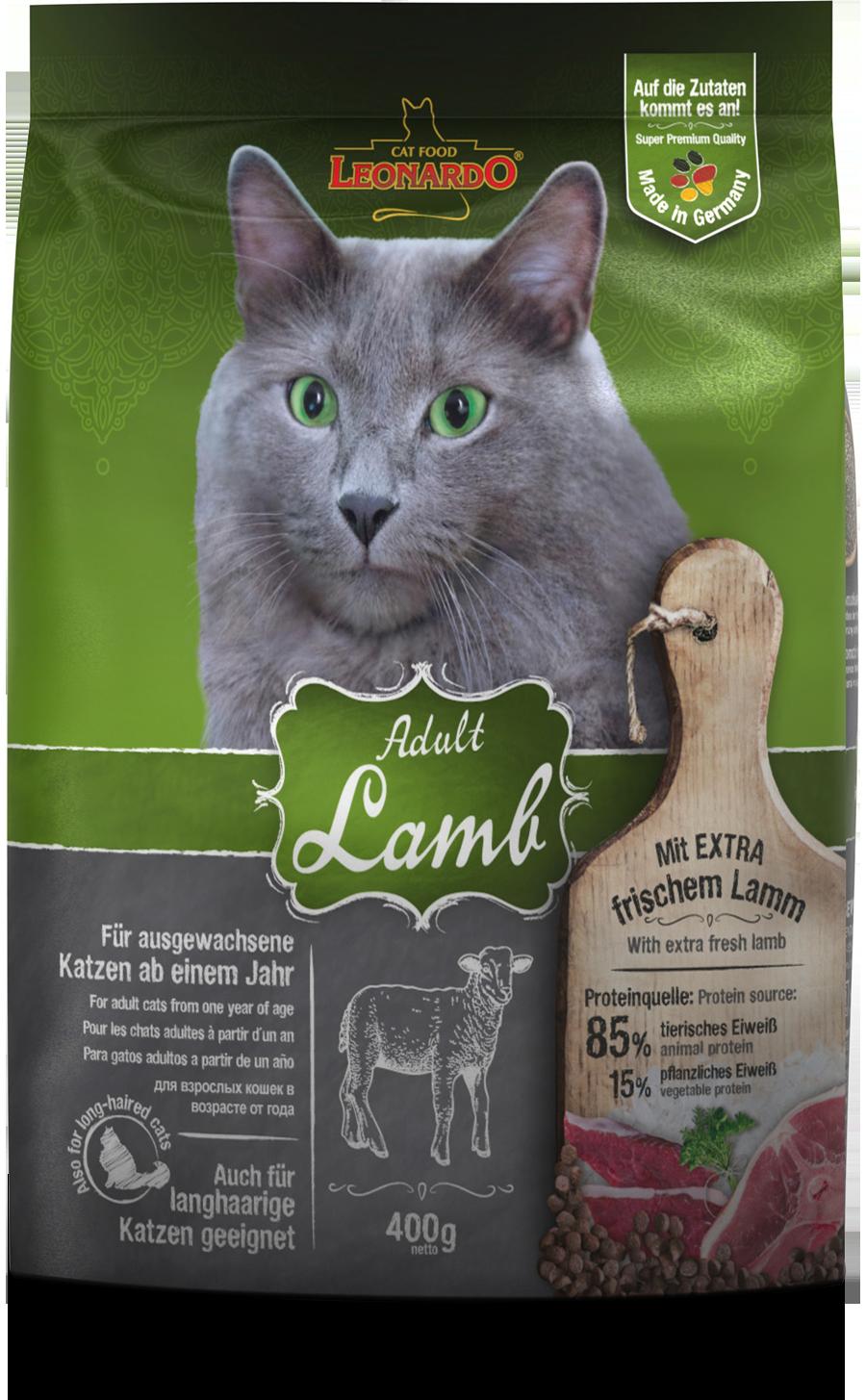 Leonardo-Adult-Lamb-400g-front